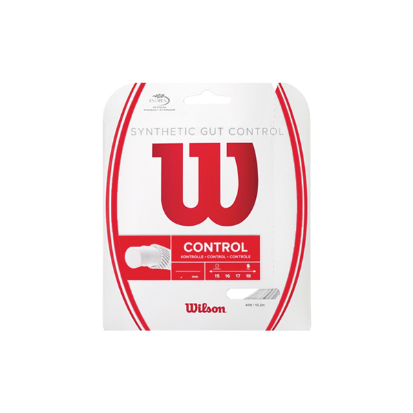 단품 SYNTHETIC GUT CONTROL 윌슨스트링 WHITE